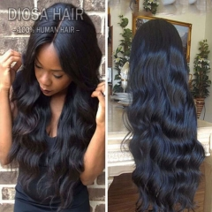 Full and Thick 180 Density Silk Top Human Hair Wigs Long Brazilian Body Wave Silk Top Full Lace Wigs/Silk Top Lace Front Wigs