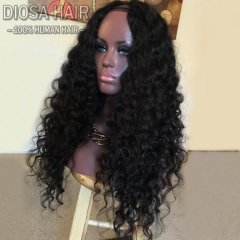 Diosa Full 180 Density U Part Human Hair Wigs For Black Women Upart Wig With Straps Unprocessed Virgin Brazilian U Part Wigs