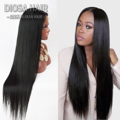 Lace Front Human Hair Wigs for black Women Glueless full lace human hair wigs  Malaysian  straight human hair U part wigs