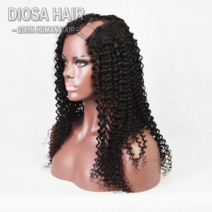 Unprocessed Virgin Brazilian Kinky Curly U Part Wigs Human Hair Kinky Curly Upart Wig Virgin Hair U Shaped Wig For Black Women