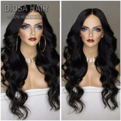 Unprocessed Brazilian Full Lace Human Hair Wigs Lace Front Wigs Body Wave Virgin Hair with Baby Hair 180 denisty