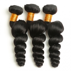 Diosa Hair Peruvian Loose Wave Non-Remy Human Hair Bundle 1 Piece Natural Color 8-26 Inch Can Be Straightened and Dyed