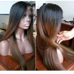Ombre Brown Lace Front Human Hair Wigs 150 density Ombre Full Lace Wig Ombre Lace Front Wig With Baby Hair
