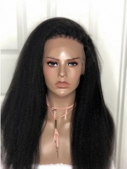 Kinky Straight Full Lace Human Hair Wigs Pre Plucked With Baby Hair Glueless Full Lace Wigs For Women Brazilian Remy Hair