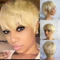 Pixie Cut Wigs for Women 13x6 frontal lace wig human hair