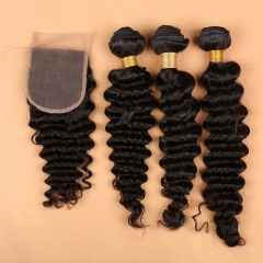 Deep Wave Bundles With Closure Deep Wave Human Hair Weave
